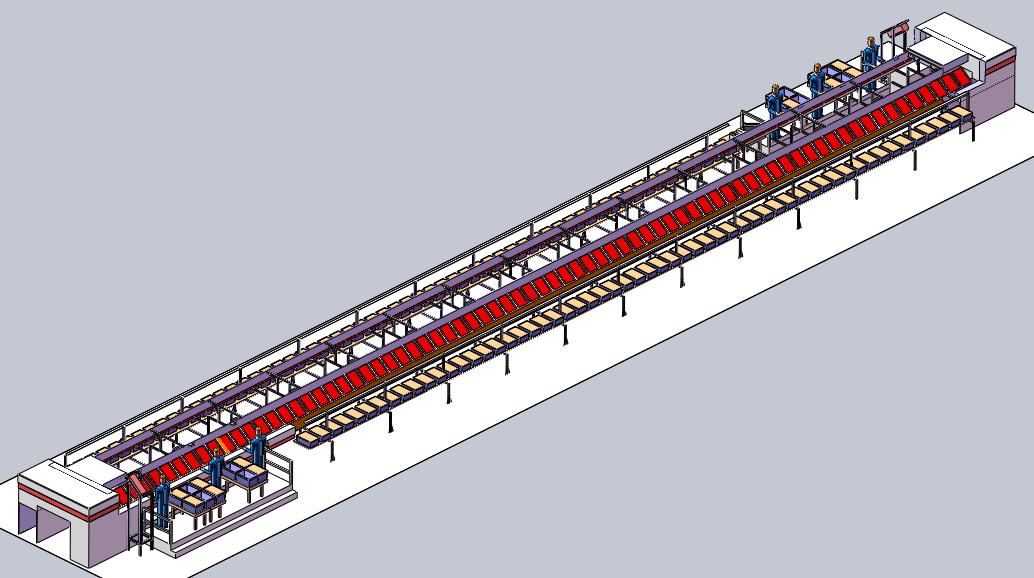 Slide tray sorteris